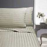 In2Linen Split King Sheet set 5 Piece | Paris Stripe 500 thread count |Colour-Linen