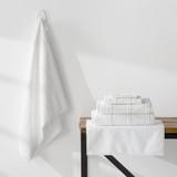 Turkish Cotton Towels Jaquard  Weave | White