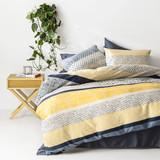 In2linen Saxon 100% Cotton 300 thread Quilt Cover Set | Mustard