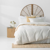 In2Linen Stone Washed Waffle Weave Pure Cotton Quilt Cover Set IWhite