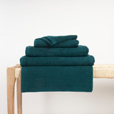 In2linen Classic Egyptian Cotton Ribbed Towel | Teal Green