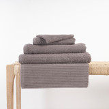 In2linen Classic Egyptian Cotton Ribbed Towel | Warm Grey