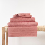 In2linen Classic Egyptian Cotton Ribbed Towel | Blush Pink