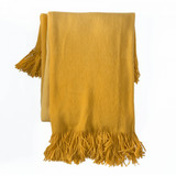 In 2 Linen Sierra Ombre Throw | Yellow