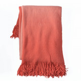In 2 Linen Sierra Ombre Throw | Orange
