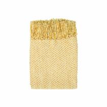 In 2 Linen Stanford Chenille Throw Rug   Saffron Yellow