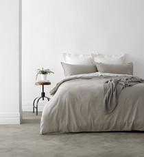 In 2 Linen Vintage Washed Super King Bed Quilt Cover Set | Linen