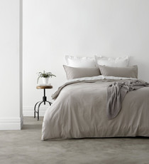 In 2 Linen Vintage Washed Queen Bed Quilt Cover Set | Linen