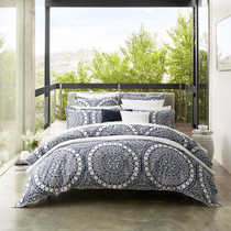 Private Collection Ezra Navy King Bed Quilt Cover Set