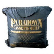 Puradown White Goose Down King Bed Quilt 80/20 | Extra warm