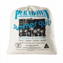 Puradown Duck Down Queen Bed Quilt | Summer