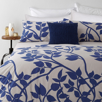 In 2 Linen Madison Blue Queen Bed Quilt Cover Set