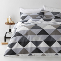 In 2 Linen Tanika Grey Super King Bed Quilt Cover Set