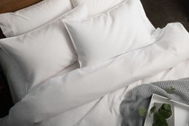 In 2 Linen Waffle Weave White European Pillowcase