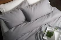 In 2 Linen Waffle Weave Pewter European Pillowcase