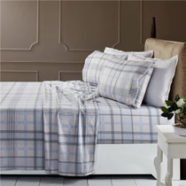 Park Avenue Egyptian Cotton Flannelette Queen Bed Sheet Set - Anderson Check
