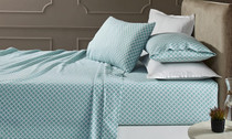 Park Avenue Egyptian Cotton Flannelette Queen Bed Sheet Set - Baraz