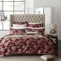 Paddington Red Super King Bed Quilt Cover Set by Private Collection