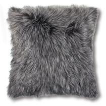 Madras Link Kashmir Charcoal Faux Fur Cushion