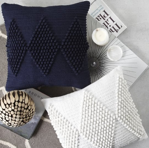 Private Collection Quay Navy Square Cushion