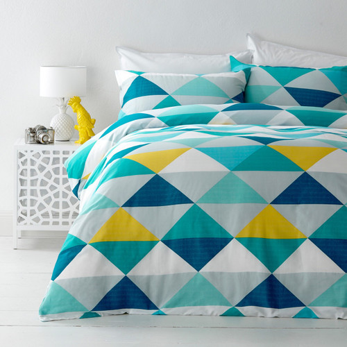 In 2 Linen Tanika Yellow King Bed Quilt Cover Set
