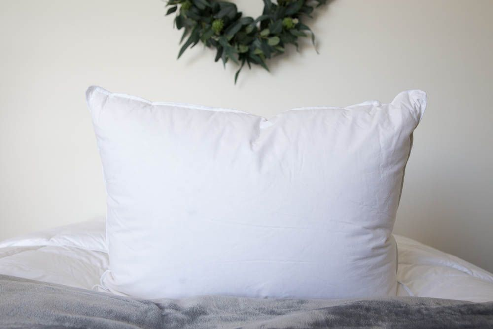 In2Linen White Duck Down and Feather Pillow