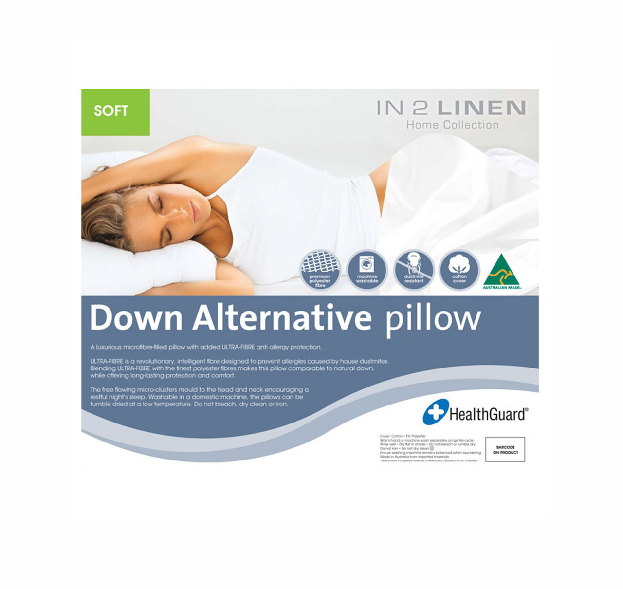 In2Linen Pillow Microfibre - Soft