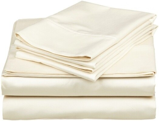 Shut Eye 500TC Egyptian Cotton Sateen King Bed Sheet Sets  | Ivory