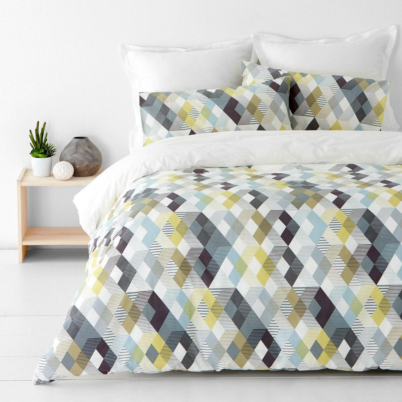 In 2 Linen Kensington Grey King Bed Quilt Cover Set