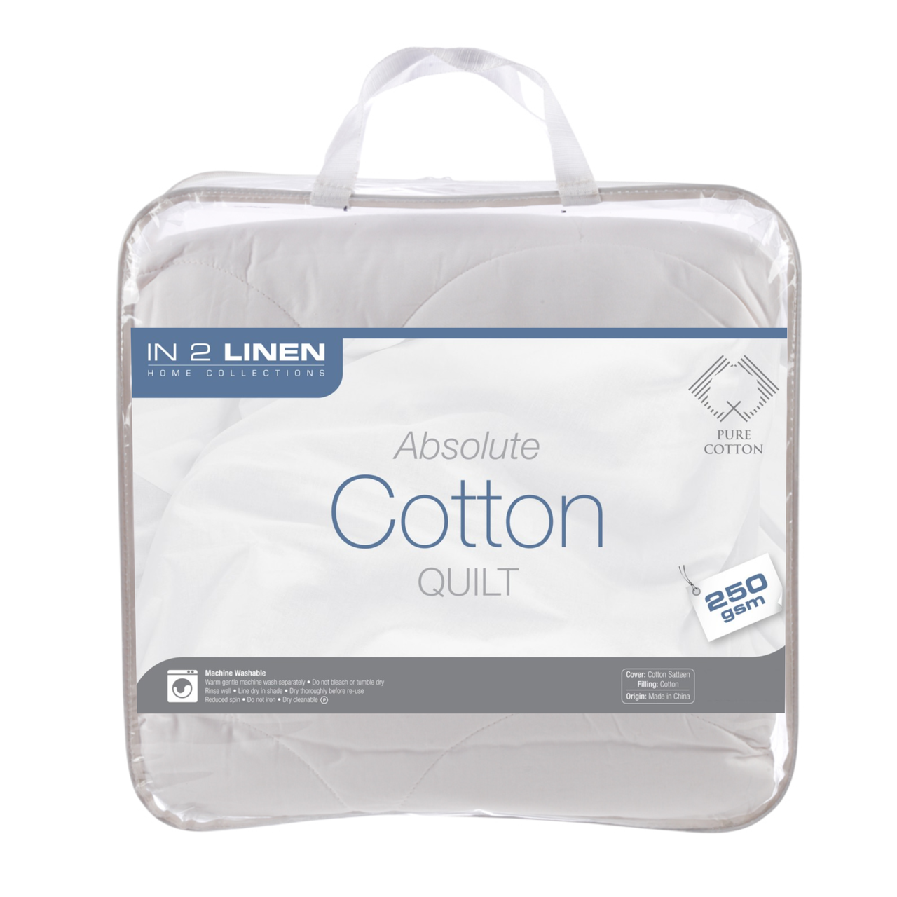 In 2 Linen 250gsm Pure Cotton Double Bed Quilt | Summer