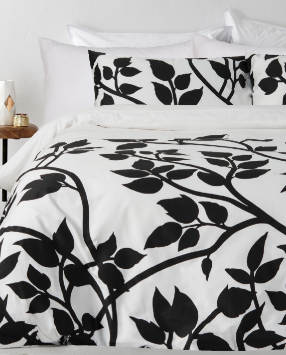 In2Linen Madison Black Quilt Cover Set - 300 Thread Count 100% Cotton