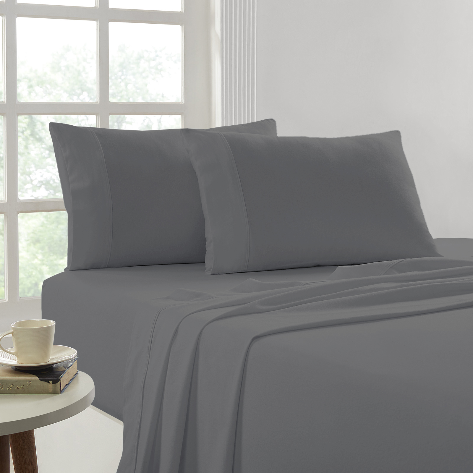 In2linen Flannel Queen Bed Sheet Sets Egyptian Cotton
