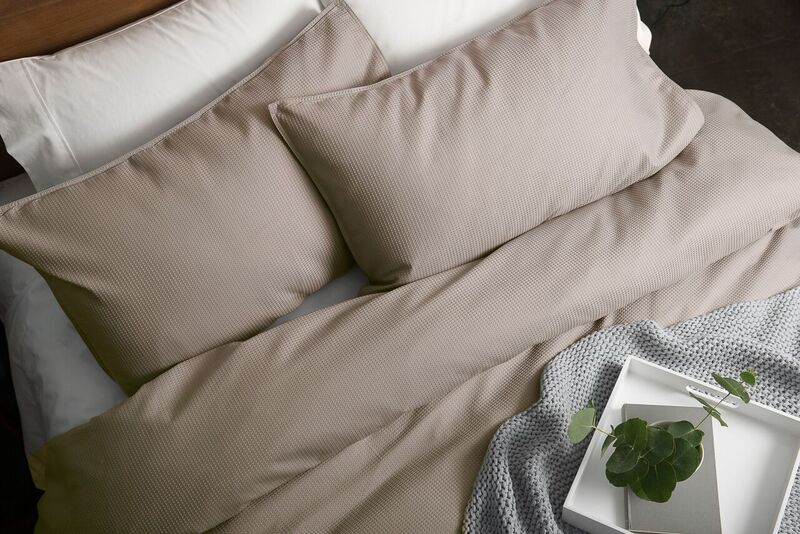 In 2 Linen Waffle Weave Double Bed Quilt Cover Set | Linen