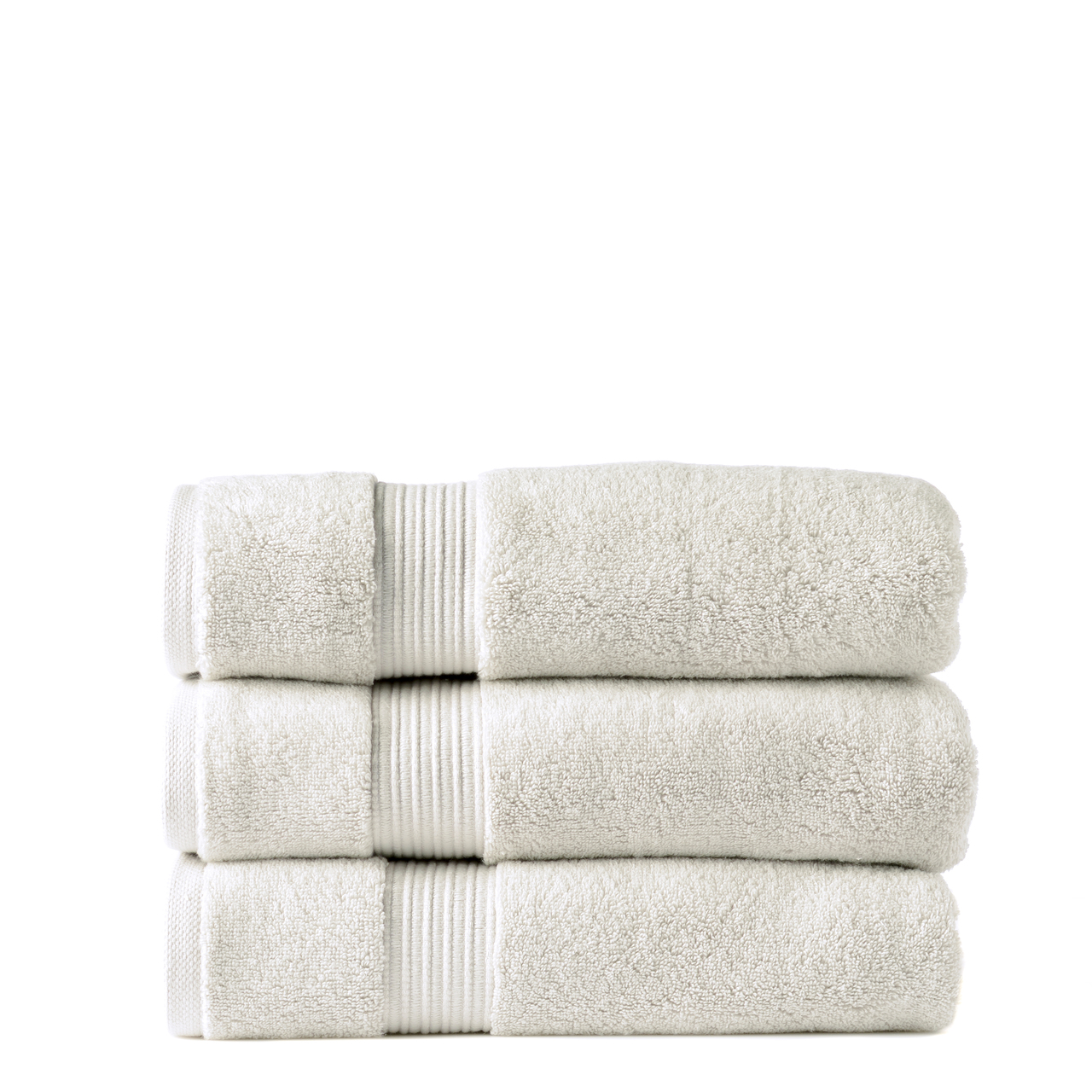 Our Zero Twist 650 gsm 100% cotton bath towels are soft and plush. They are colourfast and durable. The drying becomes more enhanced with every wash maintaing a soft and plush texture.  Colour Silver There are 10 beautiful colours to choose from all with matching accessories.