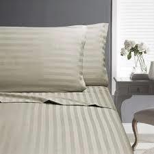 In2Linen King Single Bed Paris Stripe Sheet Set 500 thread count -Linen