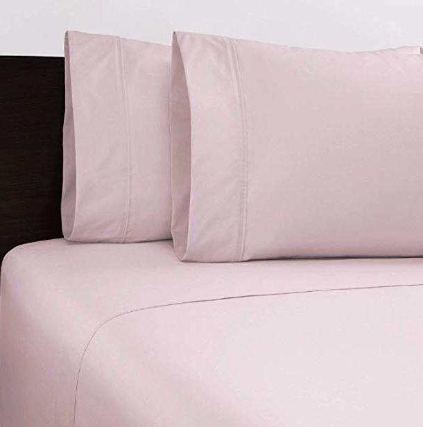 Shut Eye King Size  375 Thread Sheet Set - Ice Pink