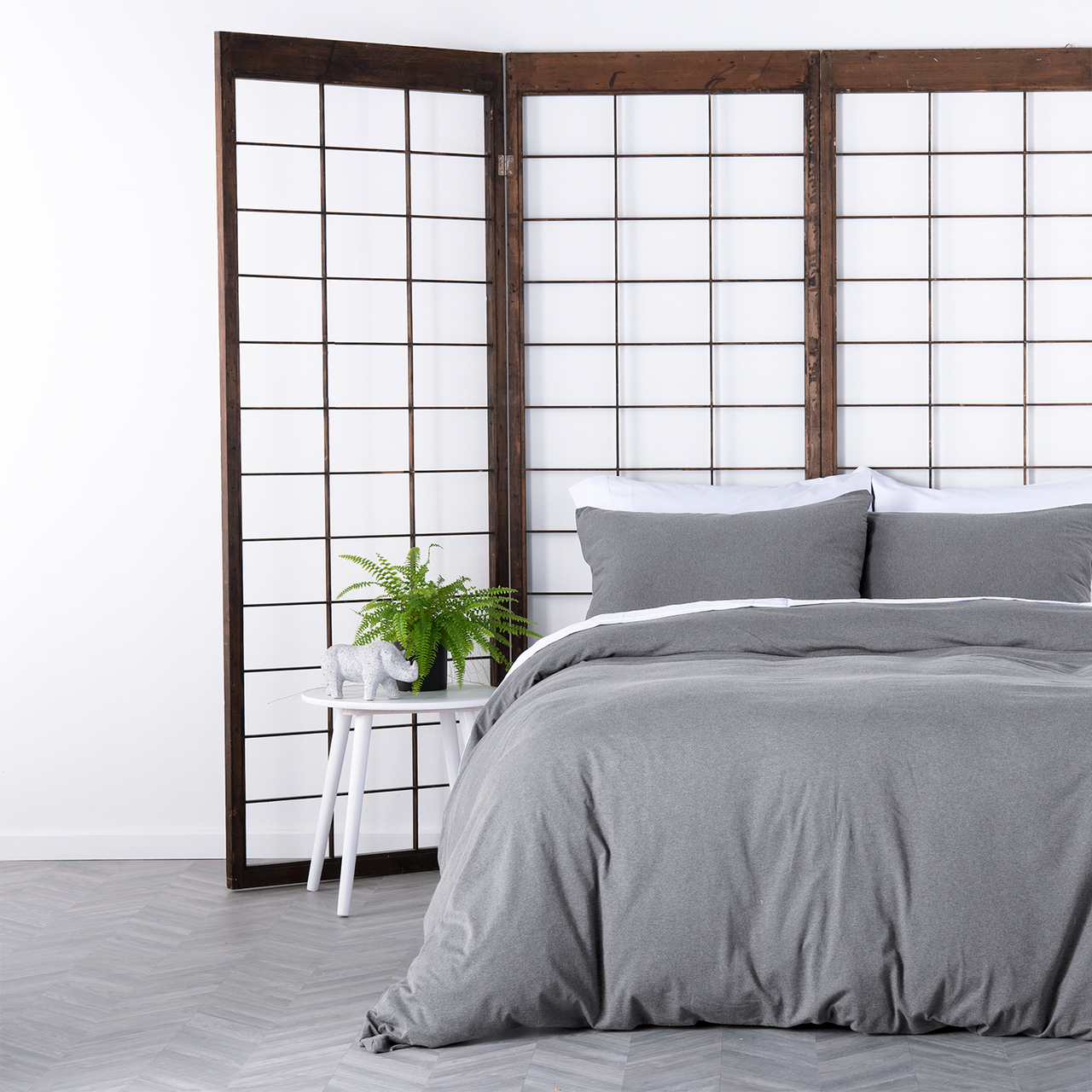 In2Linen Jersey Melange Pure Cotton Quilt Cover Set I Grey From $49.95