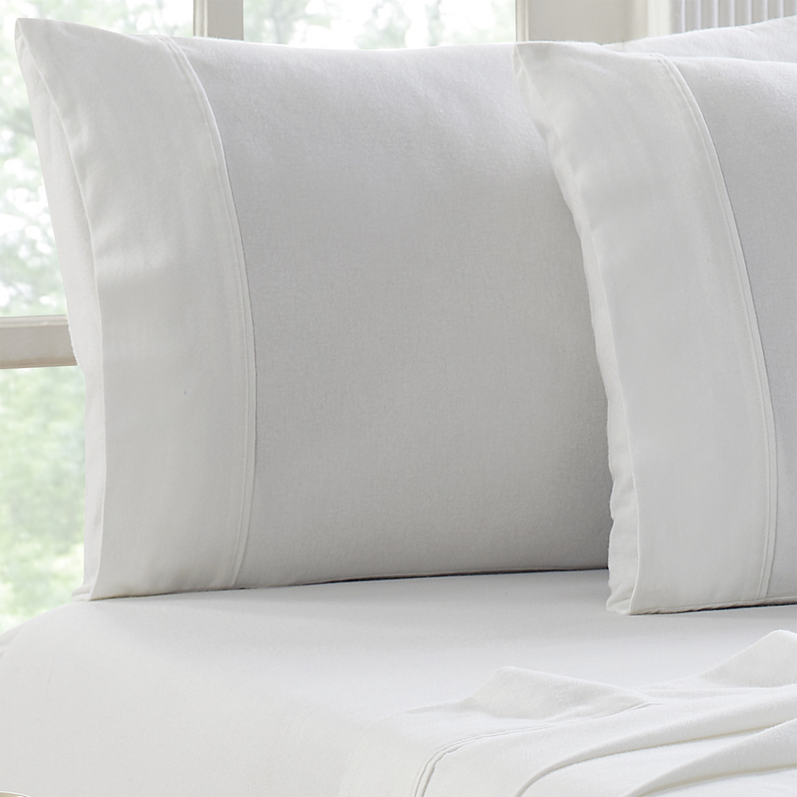 Flannel Sheet Set Egyptian Cotton 175 GSM Brushed - Colour White - From $39.95