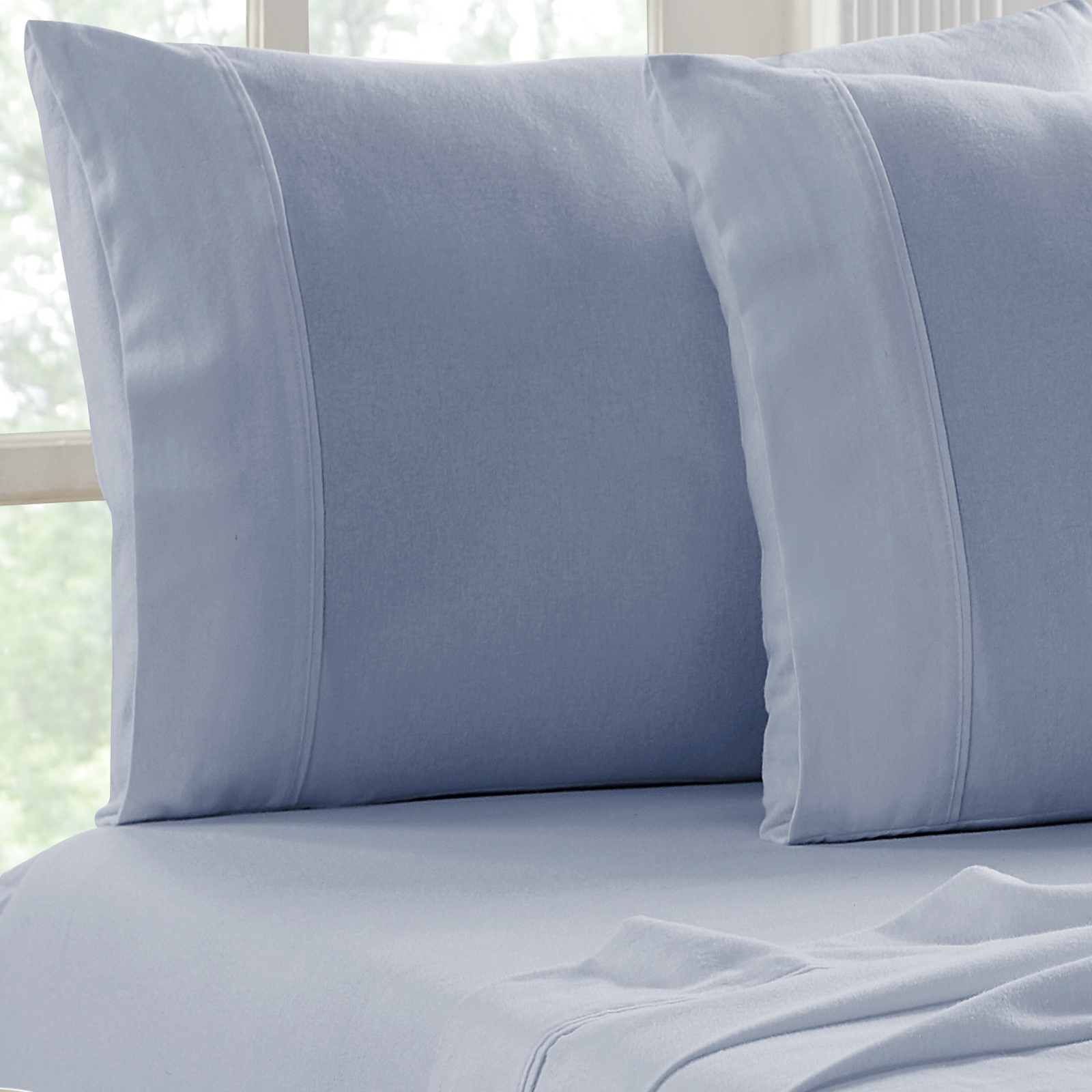 Flannel Sheet Set Egyptian Cotton 175 GSM Brushed - Colour Indigo - From $39.95