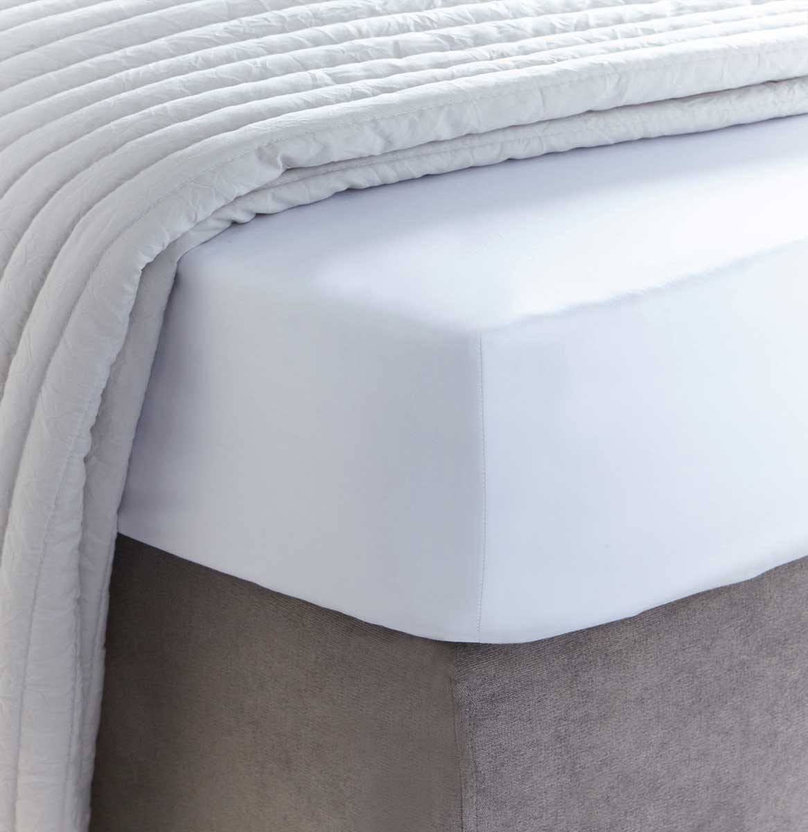 Long Single Bed fitted sheet 300 threads percale