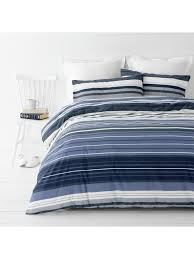 In2Linen Alex Ocean Quilt Cover Set Poly/Cotton Percale ALL SIZES NOW $29.95 EA