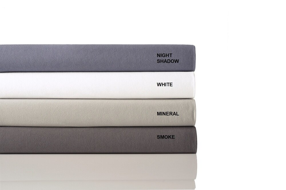In2Linen Bamboo Cotton Jersey Sheet Set - Colour Night Shadow- From $69.95 - $119.95