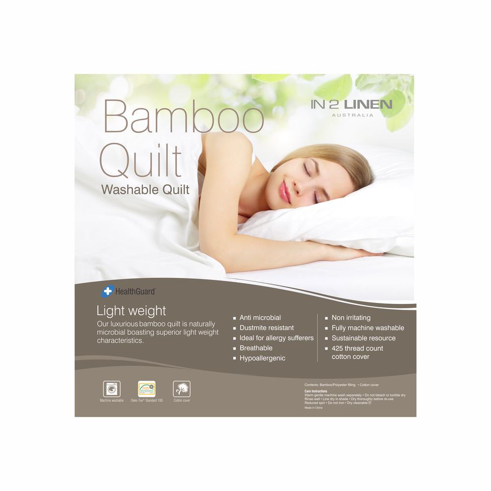 In2Linen Bamboo Luxury Quilt 250gsm - Summer Weight From $59.95 - $139.95