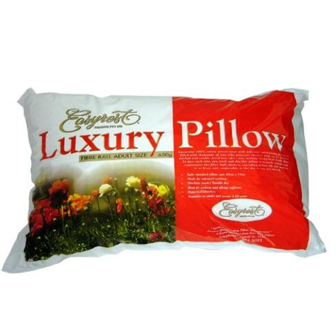 Pillow 650GSM Easy Rest Luxury Fibre Ball Pillow - Adult