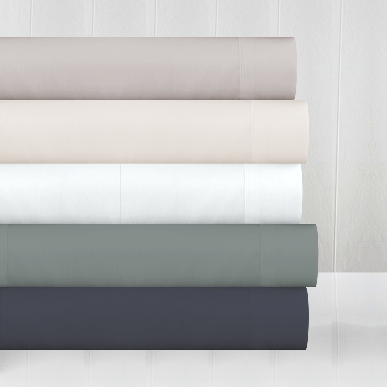 In2Linen Mega Queen Bamboo Cotton Fitted Sheet 50cm Wall 500TC | Pearl