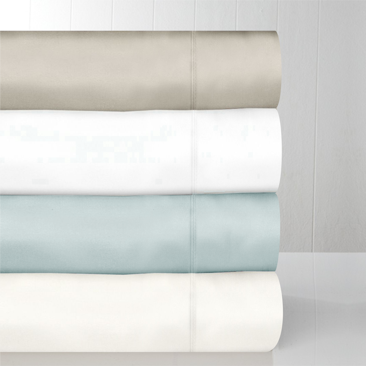 In2Linen Mega Queen Bed  600 TC Aegean Cotton Sheet Set| Light Blue