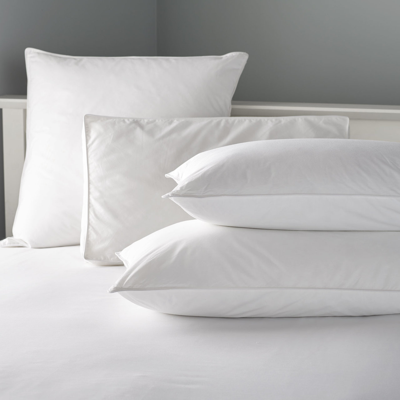 In2Linen Pillow Cases Commercial Grade 100% Cotton| One Pair White