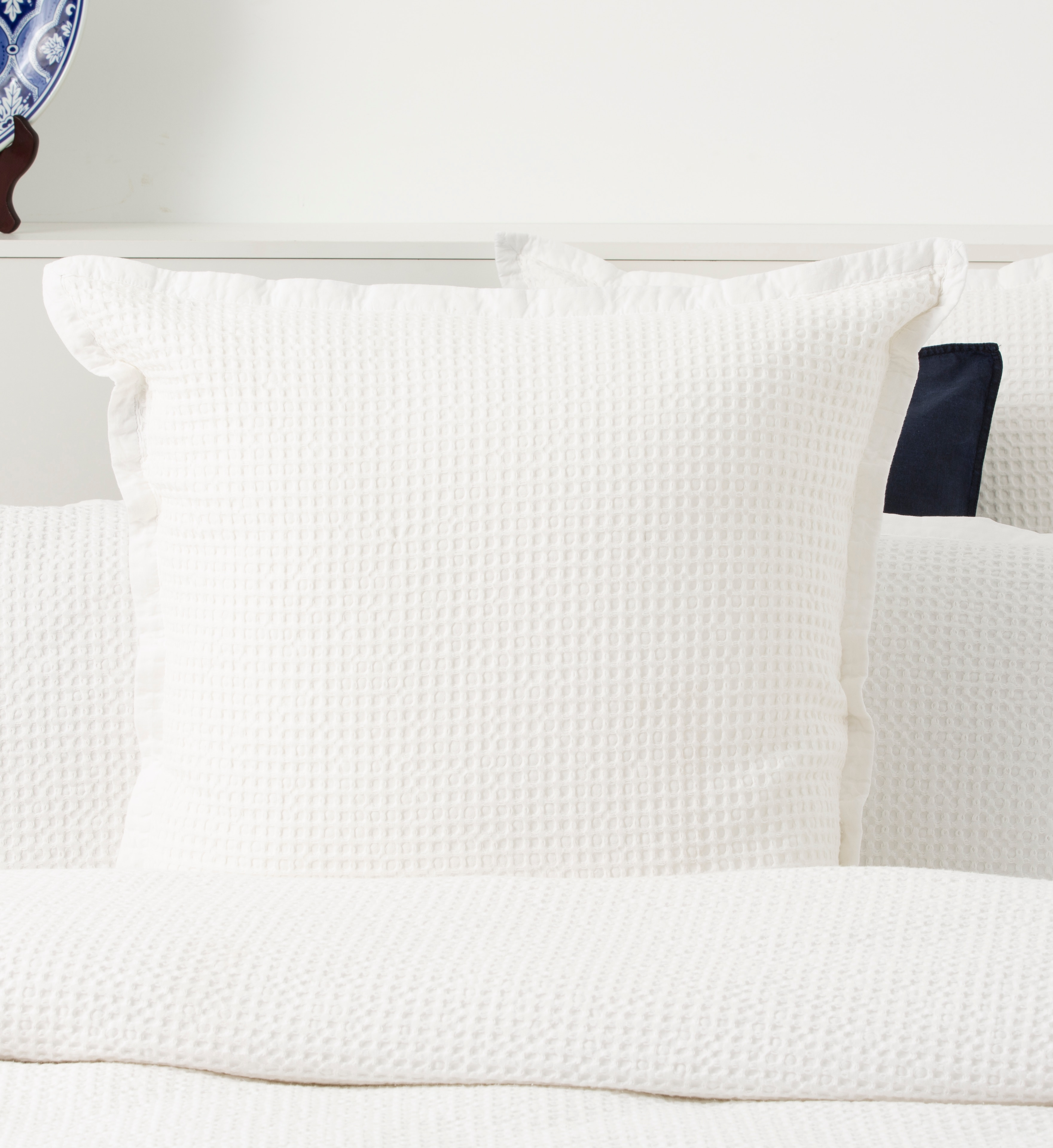 In2linen Waffle Blanket/Coverlette 100% Egyptian Cotton Soft wash |White