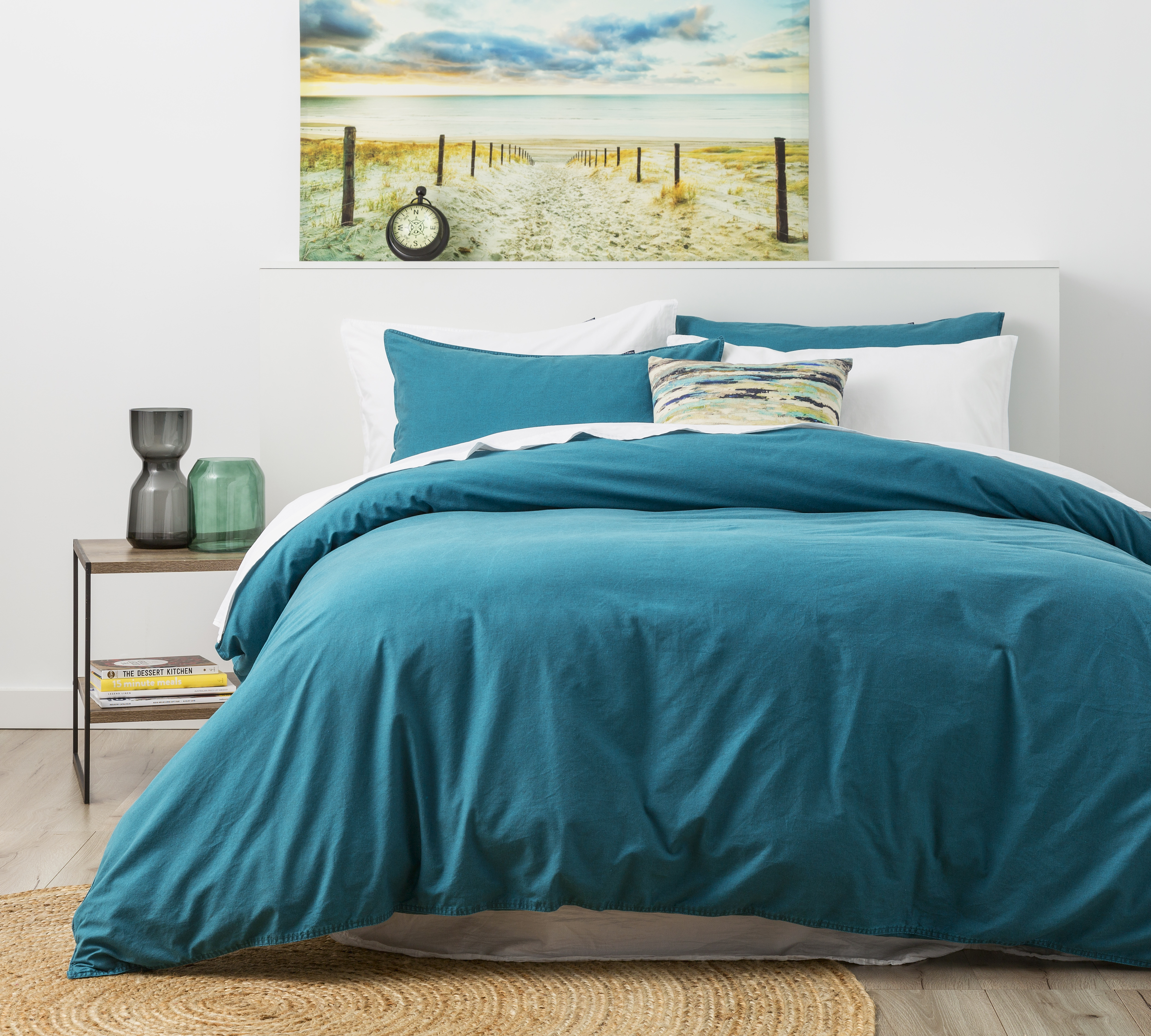 In2linen Stone Wash Quilt Cover Set | Peacock | NEW RANGE