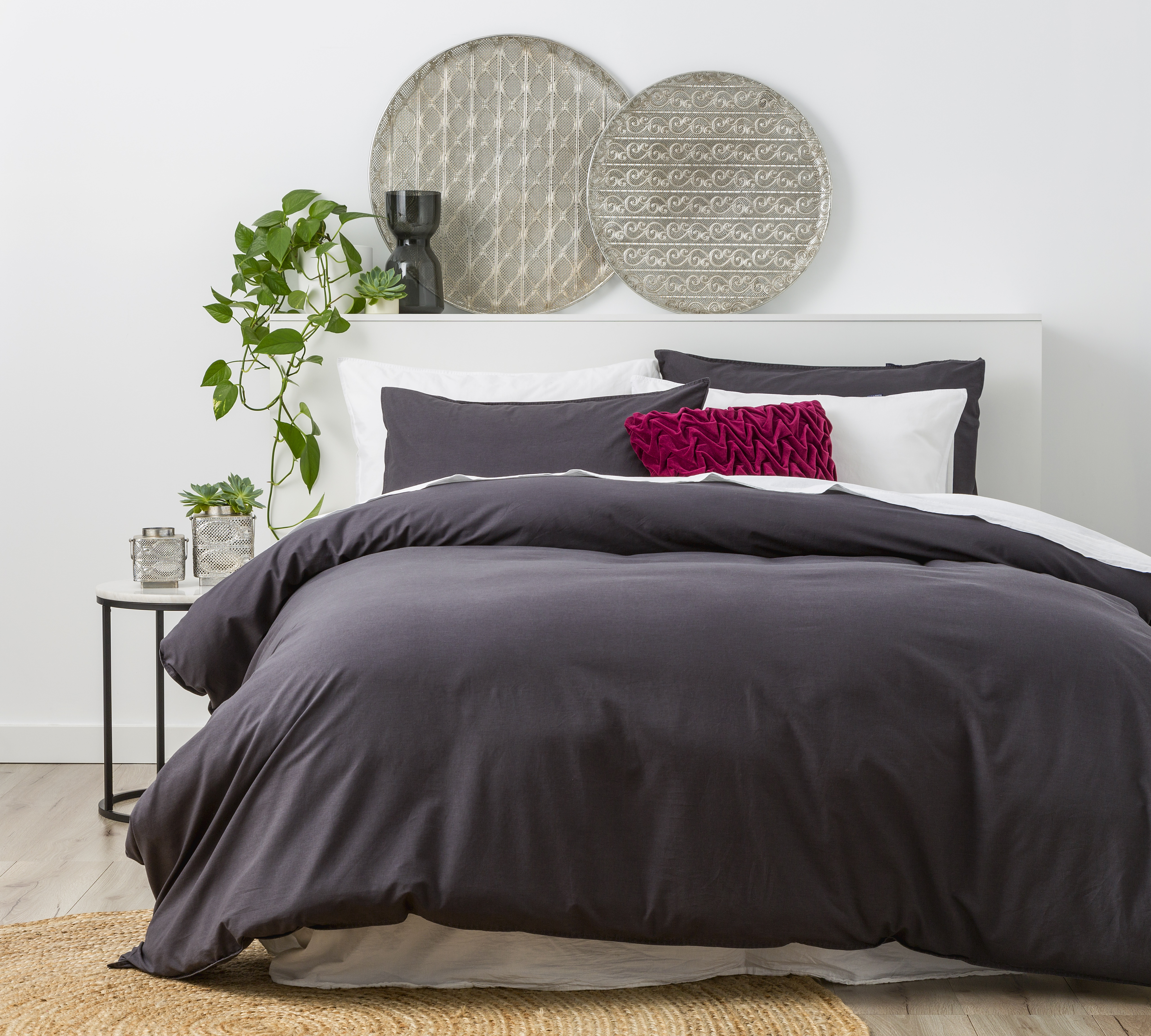 In2linen Stone Wash Quilt Cover Set | Charcoal| NEW RANGE